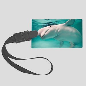 Beluga whale, Delphinapterus leu Large Luggage Tag