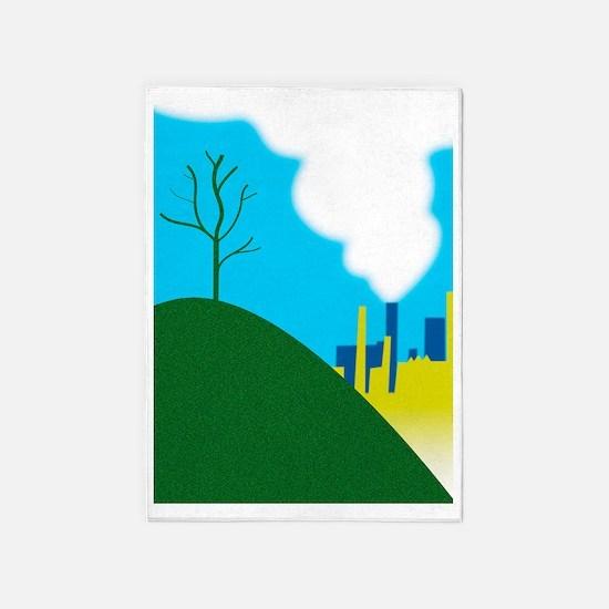 Air pollution 5'x7'Area Rug