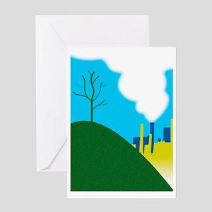 Air pollution Greeting Card