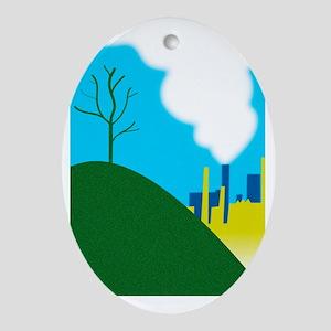 Air pollution Oval Ornament