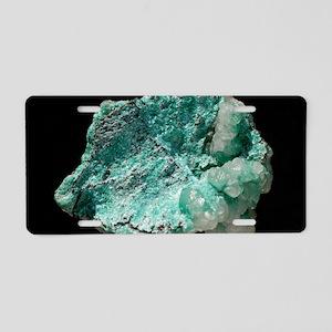 Aurichalcite crystals Aluminum License Plate