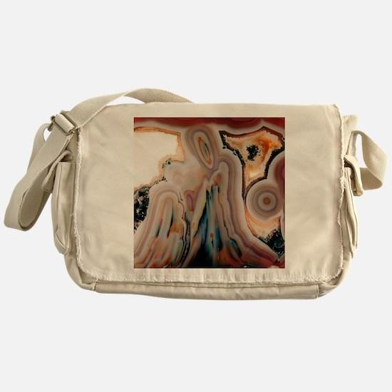 Agate slice Messenger Bag