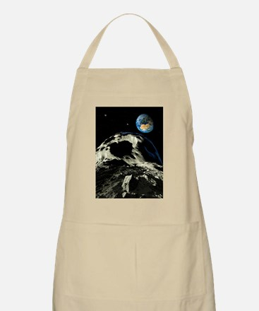 Asteroids approaching Earth, artwork Apron