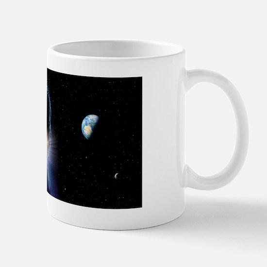 Asteroid impact, artwork Mug