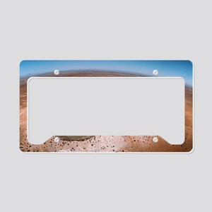 Aerial view of Meteor Crater, License Plate Holder