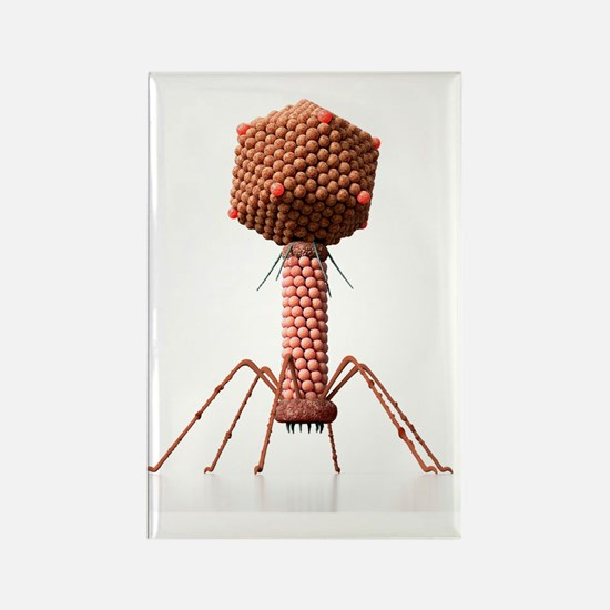 Bacteriophage, artwork Rectangle Magnet