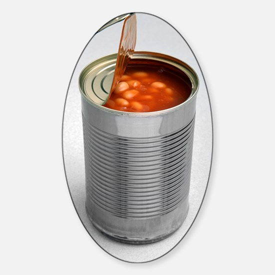 Baked beans in a can Sticker (Oval)