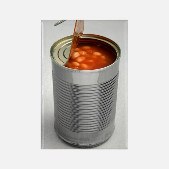 Baked beans in a can Rectangle Magnet