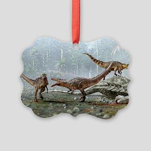 Austroraptor dinosaurs Picture Ornament