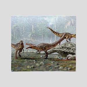 Austroraptor dinosaurs Throw Blanket