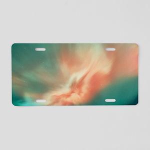 A spectacular aurora boreal Aluminum License Plate