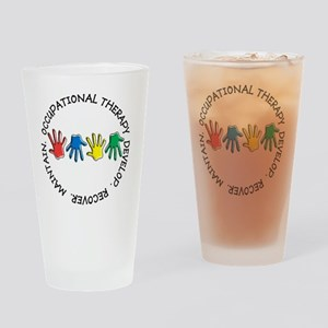 OT CIRCLE HANDS 2 Drinking Glass