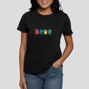 OT CIRCLE HANDS 2 Women's Dark T-Shirt