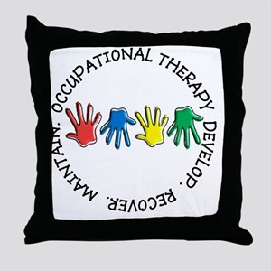 OT CIRCLE HANDS 2 Throw Pillow