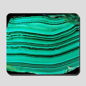 A polished slab of malachite Mousepad