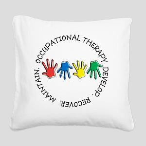 OT CIRCLE HANDS 2 Square Canvas Pillow