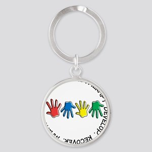 OT CIRCLE HANDS 2 Round Keychain