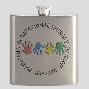 OT CIRCLE HANDS 2 Flask