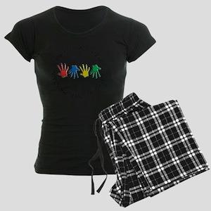 OT CIRCLE HANDS 2 Women's Dark Pajamas