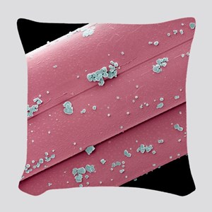 Antimicrobial wound dressing,  Woven Throw Pillow