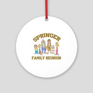 Springer Hillbilly Family Reunion Ornament (Round)