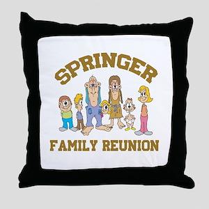 Springer Hillbilly Family Reunion Throw Pillow