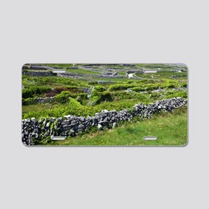 Ancient limestone fields Aluminum License Plate