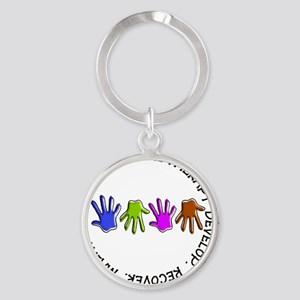OT CIRCLE Hands Round Keychain