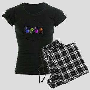 OT CIRCLE Hands Women's Dark Pajamas