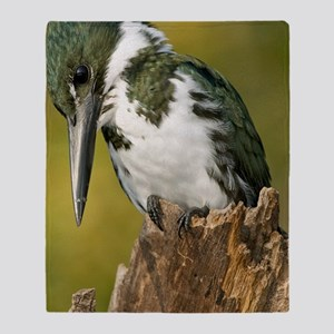 Amazon kingfisher male Throw Blanket