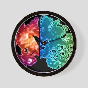 Alzheimer's brain Wall Clock