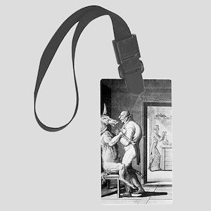 Animal magnetism, satirical artw Large Luggage Tag