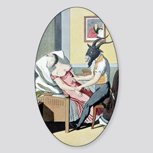 Animal magnetism, satirical artwork Sticker (Oval)