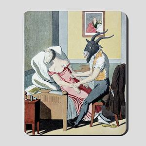 Animal magnetism, satirical artwork Mousepad