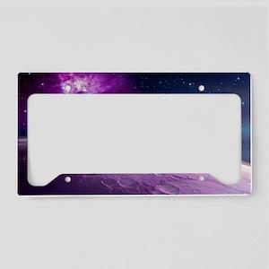 Alien landscape, artwork License Plate Holder