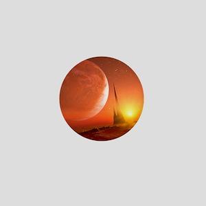 Alien landscape, artwork Mini Button