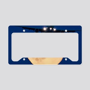 Airbus 330 passing in front o License Plate Holder