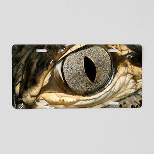 American alligator eye Aluminum License Plate