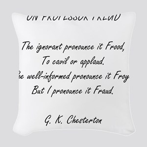 Freud Woven Throw Pillow