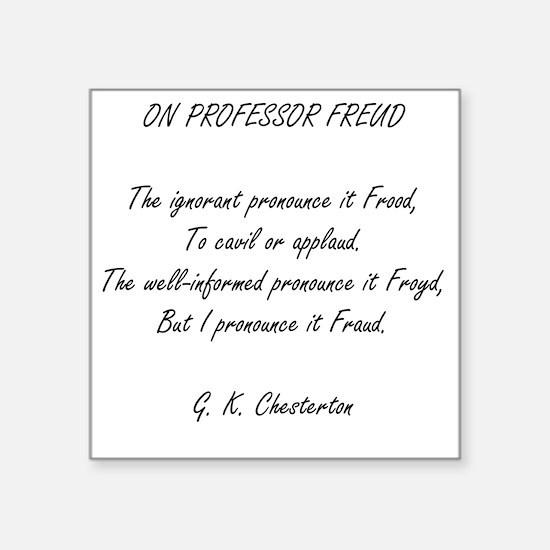 "Freud Square Sticker 3"" x 3"""