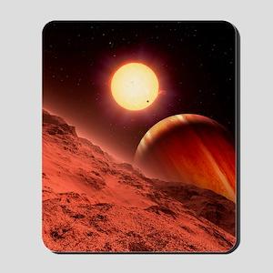 Alien planetary system, artwork Mousepad