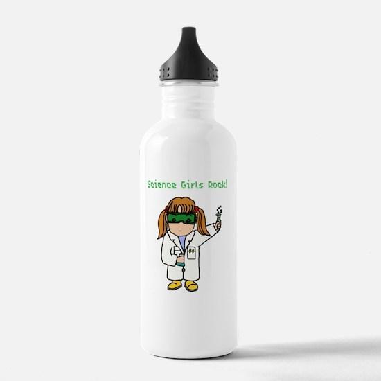 Science Girls Rock Water Bottle