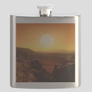 Alien landscape, artwork Flask