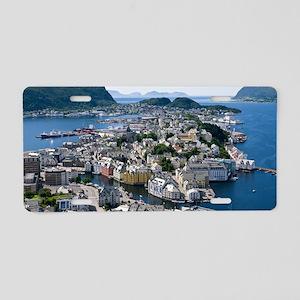 Alesund, Norway Aluminum License Plate