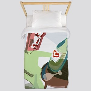Alcoholism, conceptual artwork Twin Duvet