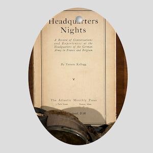 1917 Headquarters Nights Vernon Kell Oval Ornament