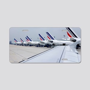 Aircraft at Charles de Gaul Aluminum License Plate