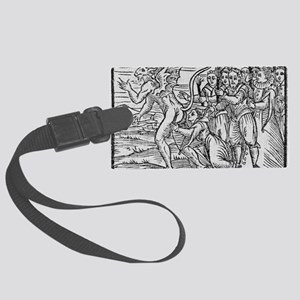 Adoration of the Devil, 17th cen Large Luggage Tag