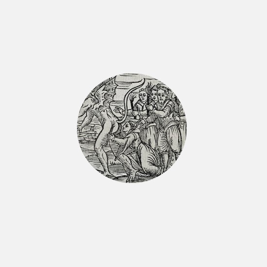 Adoration of the Devil, 17th century Mini Button