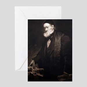 1889 Sir Richard Owen portrait in ol Greeting Card